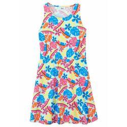 Letnia sukienka dziewczęca z dżerseju z bawełny organicznej bonprix pastelowy miętowy