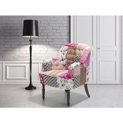 Fotel wypoczynkowy kolorowy do salonu tapicerowany - MANDAL