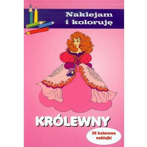 Książki dla dzieci, Królewny. Naklejam i koloruję (opr. miękka)