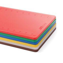 Deska do krojenia z polietylenu HACCP 500x380x12 mm, biała | HENDI, Perfect Cut