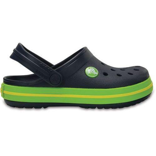 Sandałki dziecięce, Crocs Buty otwarte 'Crocband' niebieska noc / zielony