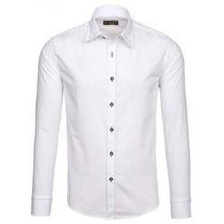 Biała koszula męska elegancka z długim rękawem Bolf 4719