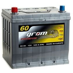 Akumulator GROM Premium 60Ah 540A Japan Lewy plus