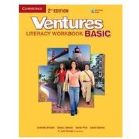 Leksykony techniczne, Ventures Basic. Literacy Workbook + CD (opr. miękka)