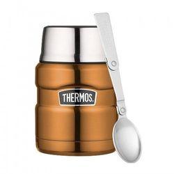 Thermos ® - termos obiadowy ze składaną łyżką - miedziany