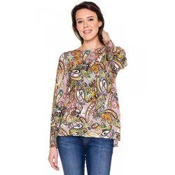 Bluzka w kolorowe wzory paisley - Duet Woman