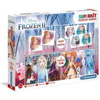 Gry dla dzieci, Superkit 2x30 + memo + domino Frozen 2