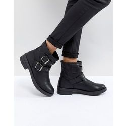 ASOS ACCENT Studded Biker Ankle Boots - Black