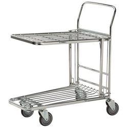 Wózek na zakupy, ocynkowany, dł. x szer. x wys. 860x530x1010 mm, nośność 300 kg.