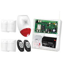 Zestaw alarmowy: Płyta główna MICRA, 2x Pilot MPT-300, 4x Czujka Abmer, Sygnalizator SP-500, Akcesoria