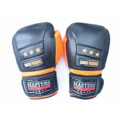 Rękawice do walki, Rękawice bokserskie skórzane MASTERS V-BOXE RBT-14 oz