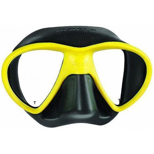 Maski, płetwy i fajki, Maska do nurkowania MARES X-Free 411060 Czarno-żółty