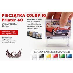 Pieczątka samotuszująca COLOP Printer 40 - wymiar płytki tekstowej: 59 x 23mm
