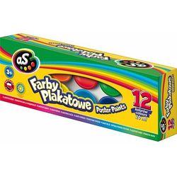 """Farby plakatowe 12 kolorów """"AS"""""""