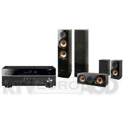 Yamaha MusicCast RX-V485 (czarny), Pure Acoustics NOVA 6 (czarny)