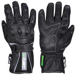 Motocyklowe rękawice TWG-170 W-TEC Perfect, Czarny, S