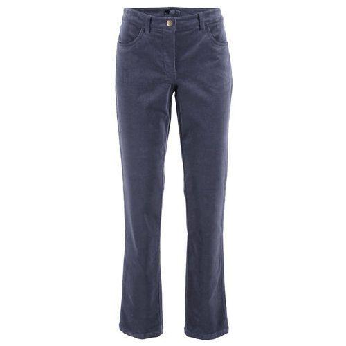 Spodnie damskie, Spodnie sztruksowe bonprix jagodowy