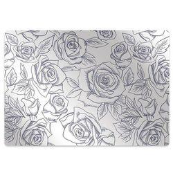 Podkładka pod krzesło obrotowe Podkładka pod krzesło obrotowe Niebieskie róże