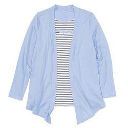 Wdzianko shirtowe z topem bonprix niebieski w paski