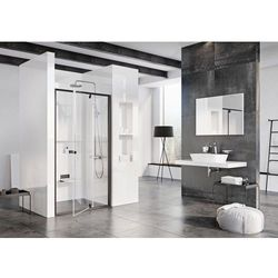 Ravak Pivot drzwi prysznicowe PDOP2-120, wys.190 cm Czarny + Transparent 03GG0300Z1