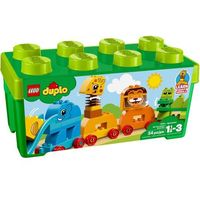 Klocki dla dzieci, Lego DUPLO Pociąg ze zwierzątkami my first animal brick box 10863