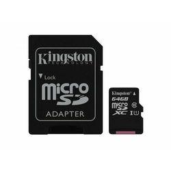 Karta pamięci Kingston microSDXC Canvas Select 64GB UHS-I Class 10 + adapter