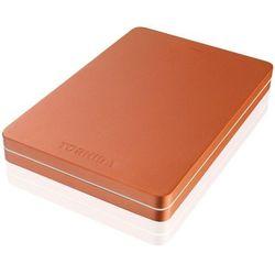 TOSHIBA Dysk zewnętrzny Toshiba Canvio Alu 500GB, USB 3.0, red