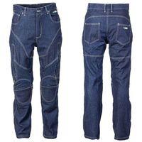Spodnie motocyklowe męskie, Męskie jeansy motocyklowe z kevlarem W-TEC NF-2931, Ciemny niebieski, 4XL
