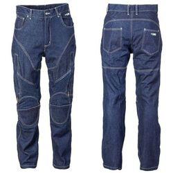 Męskie jeansy motocyklowe z kevlarem W-TEC NF-2931, Ciemny niebieski, 4XL