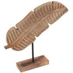 Drewniane piórko, figurka dekoracyjna - brązowa