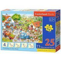 Puzzle, Puzzle edukacyjne. Liczenie na farmie. 25 elementów + 73 sztuki kafli edukacyjnych