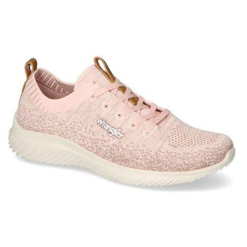 Damskie obuwie sportowe, Sneakersy Wrangler WL11530A Różowe
