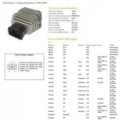DZE REGULATOR NAPIĘCIA HONDA VT125C SHADOW 99-00