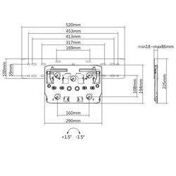 "Uchwyt do telewizora Maclean MC-837 QLED Q7/Q8/Q9/Q7FN/Q9FN 75"" max 50kg Kompatybilny z telewizorami Samsung QLED"