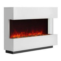 Klarstein Studio-1 kominek elektryczny imitacja płomieni LED 750/1500 W 40m²biały