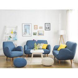 Fotel tapicerowany niebieski KOUKI