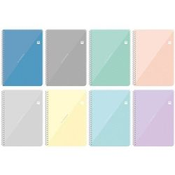 Kołozeszyt A4/100#/= z przekładkami Black&Blue pastel