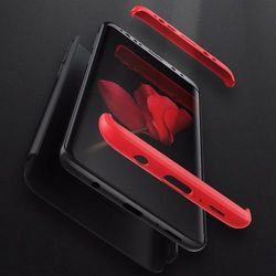 GKK 360 Protection Case etui na całą obudowę przód + tył Samsung Galaxy S9 Plus G965 czarno-czerwony