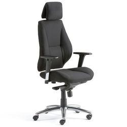 Krzesło biurowe STIRLING, wysokie oparcie, tkanina, czarny