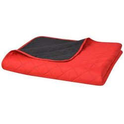 vidaXL Dwustronna, pikowana narzuta na łóżko 220x240 cm, czerwona i czarna Darmowa wysyłka i zwroty