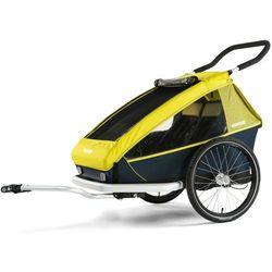 Croozer Kid For 2 Przyczepka rowerowa żółty/czarny 2019 Przyczepki dla dzieci Przy złożeniu zamówienia do godziny 16 ( od Pon. do Pt., wszystkie metody płatności z wyjątkiem przelewu bankowego), wysyłka odbędzie się tego samego dnia.