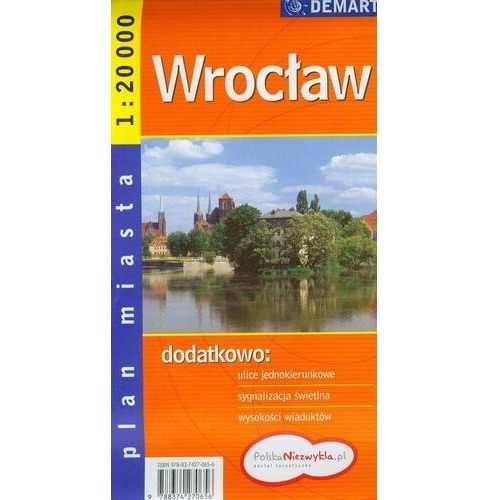 Mapy i atlasy turystyczne, Wrocław plan miasta 1: 20 000 (opr. miękka)