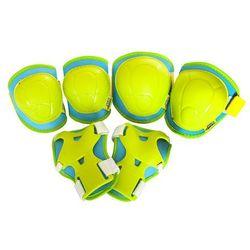 Zestaw ochraniaczy na łokcie, kolana i nadgarstki H106 Nils - Zielony neon