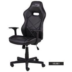 SELSEY Fotel gamingowy Monver czarno - szary