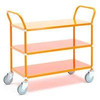 Wózki widłowe i paletowe, Wózek TRANSIT z półkami, 3 półki, 900x440 mm, pomarańczowy