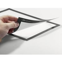 Folie do rzutników, Ramka samoprzylepna Durable Magaframe - 4871, A5/2szt. srebrna