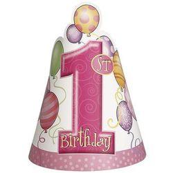 Czapeczka na roczek 1st Birthday Baloniki Pink - 1 szt