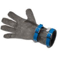 Rękawice robocze, Rękawica metalowa z niebieskimi paskami, średnia, rozmiar L | GIESSER, 9590 08