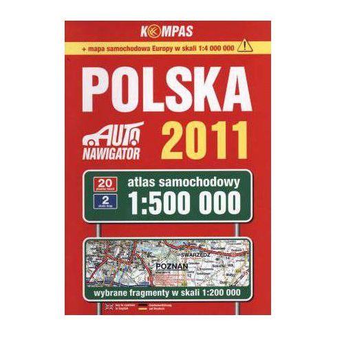 Mapy i atlasy turystyczne, Polska 2011. Atlas samochodowy (1:500 000) (opr. broszurowa)