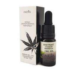 INDIA Olejek konopny CBD ekstrakt 30% 10ml